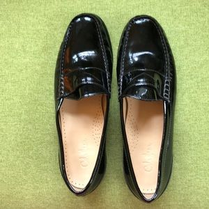 Cole Haan Nike Air black patent penny loafer